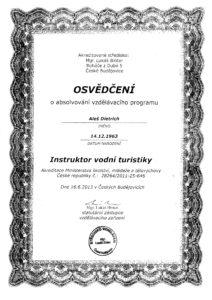Dietrich Aleš - vodácký instruktor 001